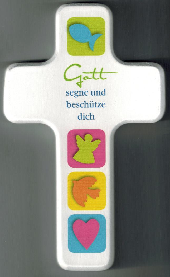 Kinderkreuz Gott segne und beschütze dich - Holz-Kunst